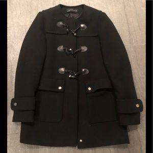Black Zara Toggle Coat